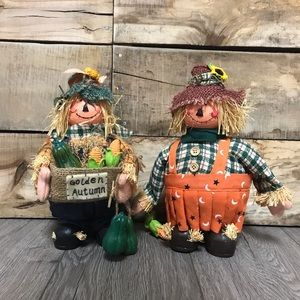 Vintage Halloween fall autumn scarecrow decor